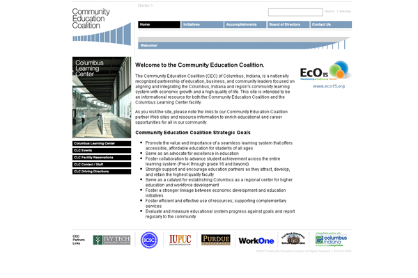 Community Education Coalition Columbus Learning Center - Michael Shermis Portfolio