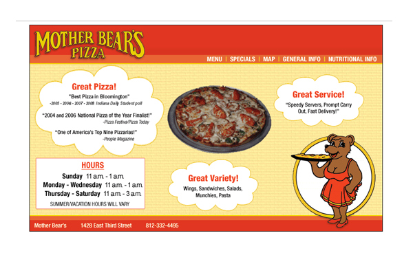 Mother Bear's Pizza - Michael Shermis Portfolio
